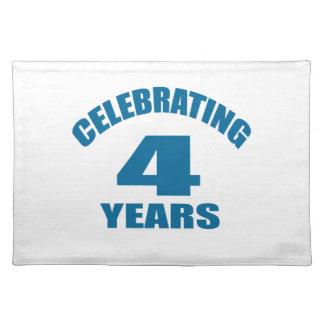 Celebrating 04 Years Birthday Designs Placemat