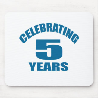 Celebrating 05 Years Birthday Designs Mouse Pad