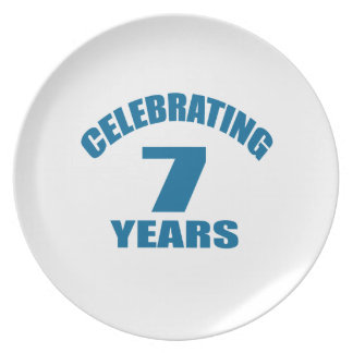 Celebrating 07 Years Birthday Designs Plate