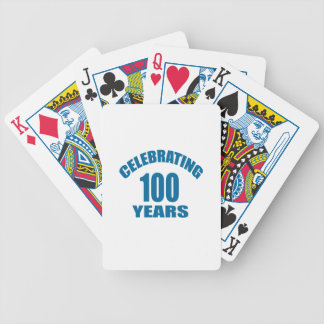 Celebrating 100 Years Birthday Designs Bicycle Playing Cards