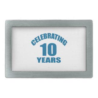 Celebrating 10 Years Birthday Designs Belt Buckle