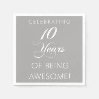 Celebrating 10 Years Of Being Awesome Paper Serviettes
