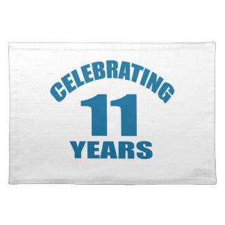 Celebrating 11 Years Birthday Designs Placemat