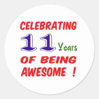 11th Birthday Stickers & Sticker Designs