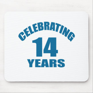 Celebrating 14 Years Birthday Designs Mouse Pad