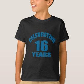 Celebrating 16 Years Birthday Designs T-Shirt