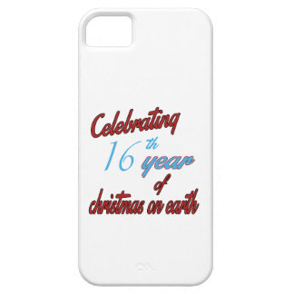 Celebrating 16th year of christmas on earth iPhone 5 case
