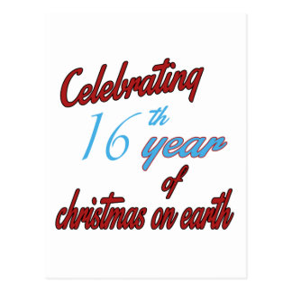 Celebrating 16th year of christmas on earth postcards