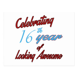 Celebrating 16th year of Looking Awesome Postcard