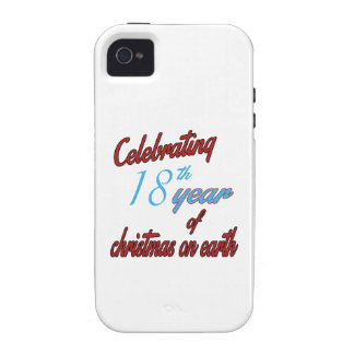 Celebrating 18th year of christmas on earth case for the iPhone 4