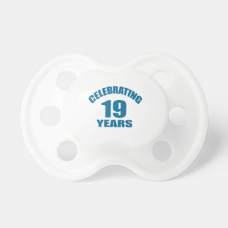 Celebrating 19 Years Birthday Designs Dummy