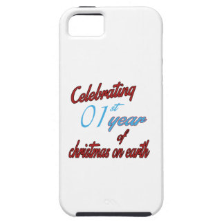 Celebrating 1st year of christmas on earth iPhone 5 covers
