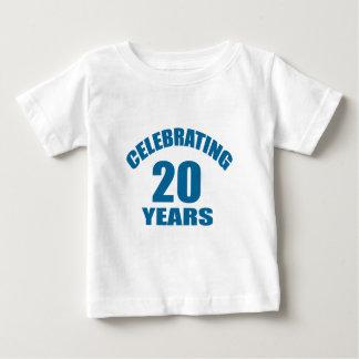 Celebrating 20 Years Birthday Designs Baby T-Shirt