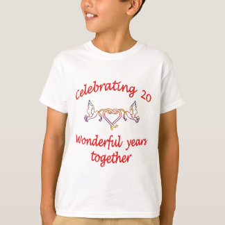 CELEBRATING 20 YEARS WED T-Shirt