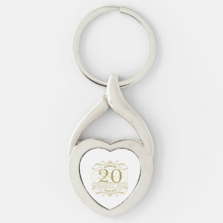 Celebrating 20th Anniversary Key Ring