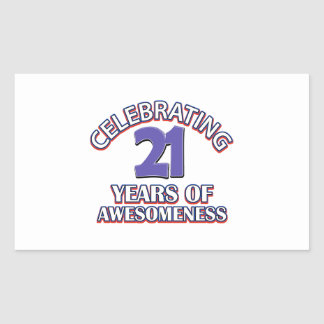 Celebrating 21 years of awesomeness stickers