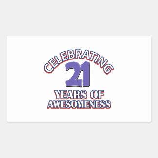 Celebrating 21 years of awesomeness stickers