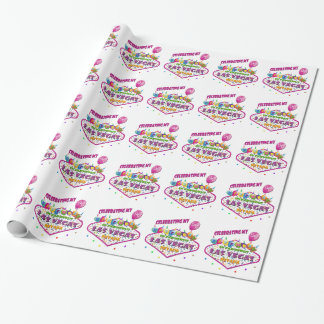 celebrating 21st Birthday Las Vegas Wrapping paper