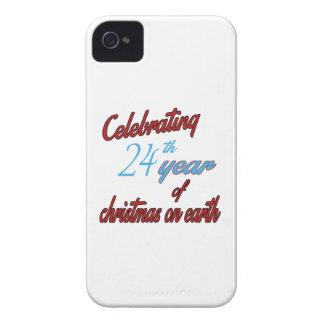 Celebrating 24th year of christmas on earth iPhone 4 Case-Mate cases