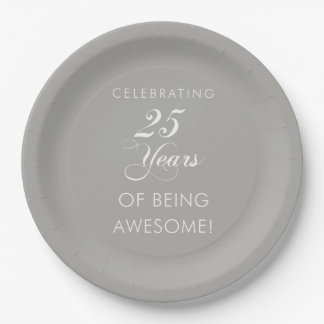 Celebrating 25 Awesome Years Paper Plates