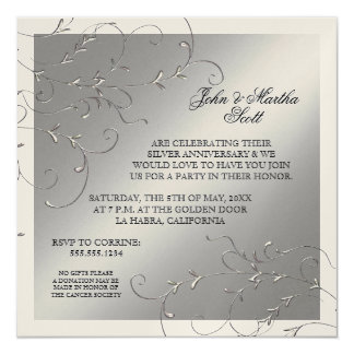 Celebrating 25 years, 25th Anniversary Invitation