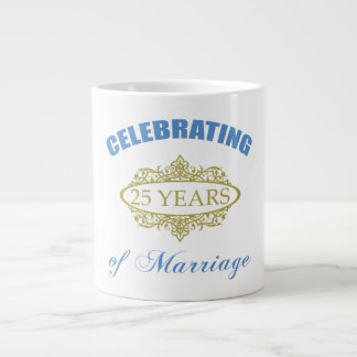 Celebrating 25 Years Of Marriage Jumbo Mug