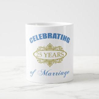 Celebrating 25 Years Of Marriage Large Coffee Mug