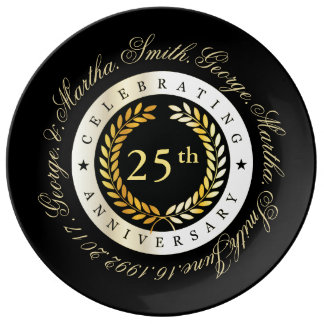 Celebrating 25th Anniversary. Plate