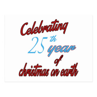 Celebrating 25th year of christmas on earth post cards