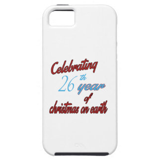 Celebrating 26th year of christmas on earth iPhone 5 case