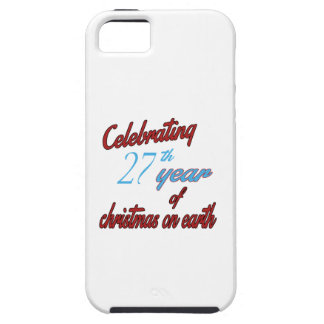 Celebrating 27th year of christmas on earth iPhone 5 case