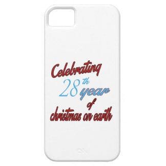 Celebrating 28th year of christmas on earth iPhone 5 case