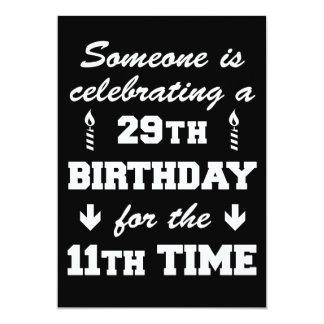 Celebrating 29th Birthday 11th Time 40th Invite