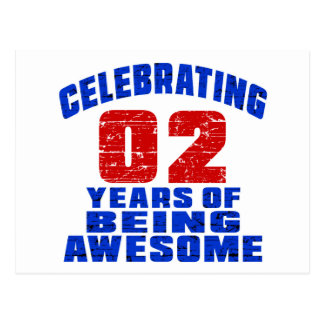 Celebrating 2 years of being awesome postcard