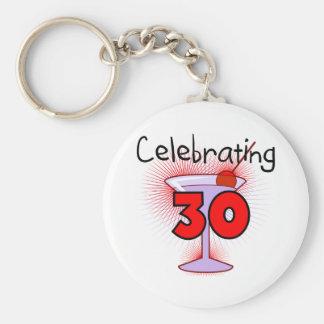 Celebrating 30 Tshirts and Gifts Basic Round Button Key Ring