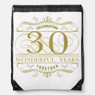 Celebrating 30th Anniversary Drawstring Bag