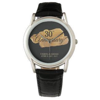 Celebrating 30th Anniversary. Gold Paint. Wristwatch