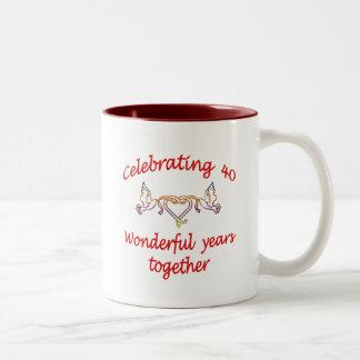 Celebrating 40 years Two-Tone coffee mug