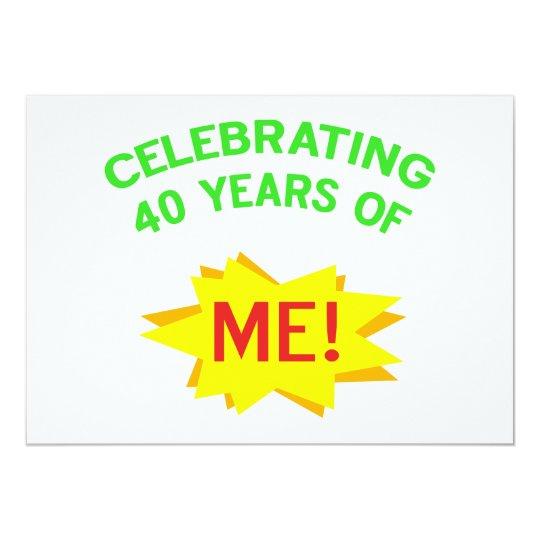 Celebrating 40th Birthday Gifts 13 Cm X 18 Cm Invitation Card