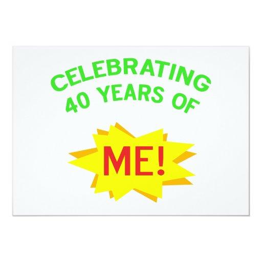 Celebrating 40th Birthday Gifts Invitations