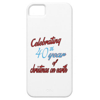 Celebrating 40th year of christmas on earth iPhone 5 cover