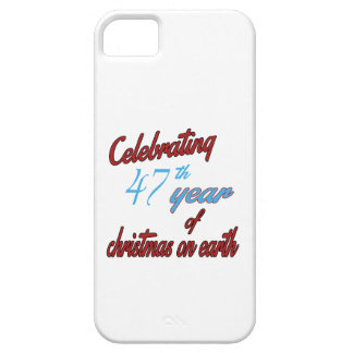 Celebrating 47th year of christmas on earth iPhone 5 cover
