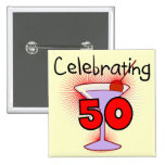 Celebrating 50 Tshirts and Gifts 15 Cm Square Badge