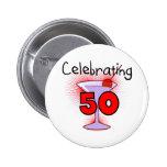 Celebrating 50 Tshirts and Gifts Badges