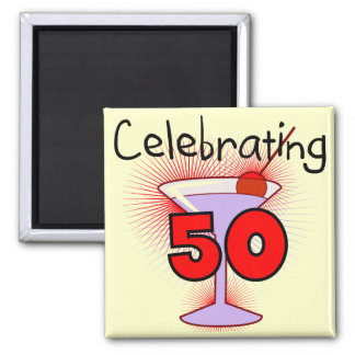 Celebrating 50 Tshirts and Gifts Square Magnet