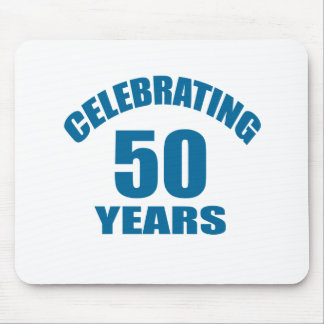 Celebrating 50 Years Birthday Designs Mouse Pad