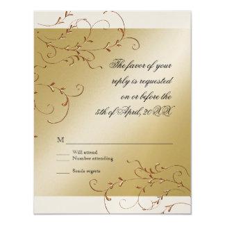 Celebrating 50 years, RSVP Response Card 11 Cm X 14 Cm Invitation Card