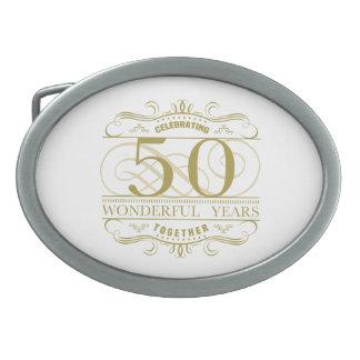 Celebrating 50th Anniversary Belt Buckle