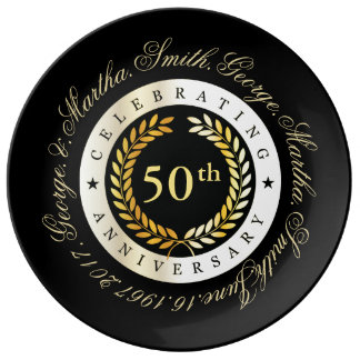Celebrating 50th Anniversary. Plate