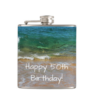 Celebrating 50th Birthday Flask